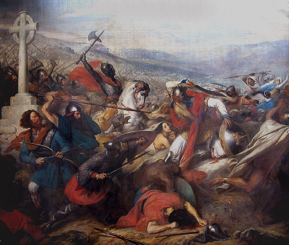 Muslim Empire reaches furthest extent: Battle of Tours