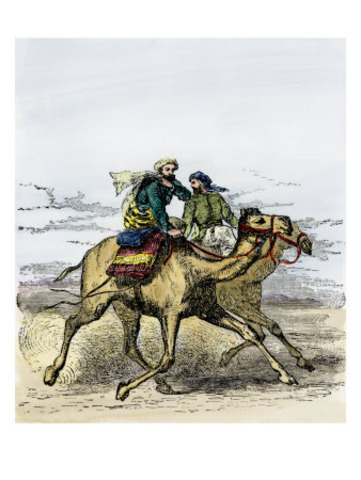 Muhammud and his followers flee from Mecca to Medina