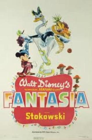 Walt Disney released Fantasia