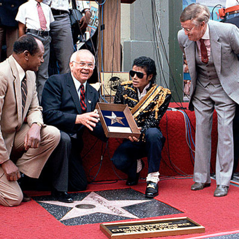 Micahel gets a star of the Walk of Fame in Hollywood