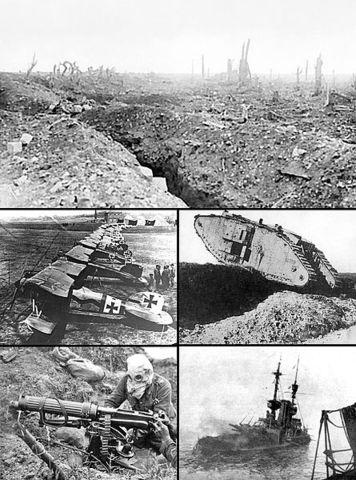 Primera Guerra Mundial. Primera mitad siglo XX.