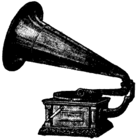Gramophone by Thomas Edison