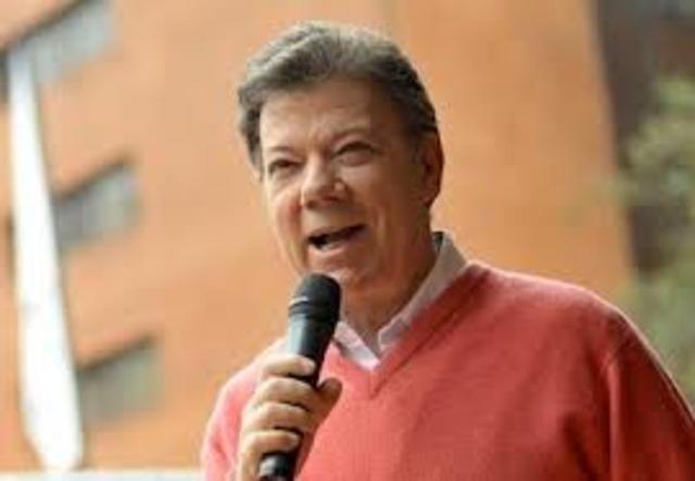 El presidente : JUAN MANUEL SANTOS