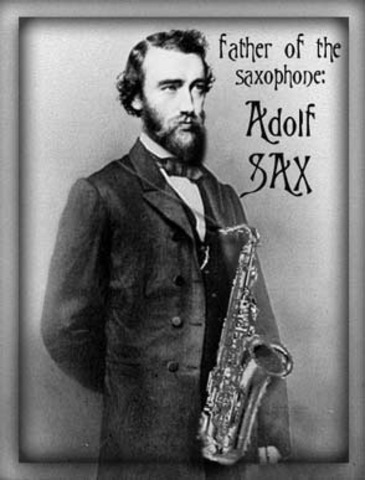 World Event - Patented the Saxophone