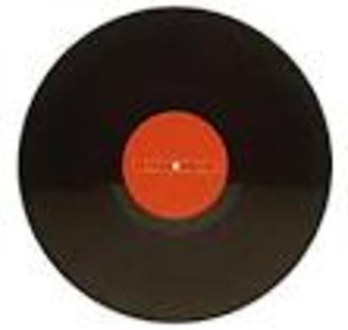 flat disc record