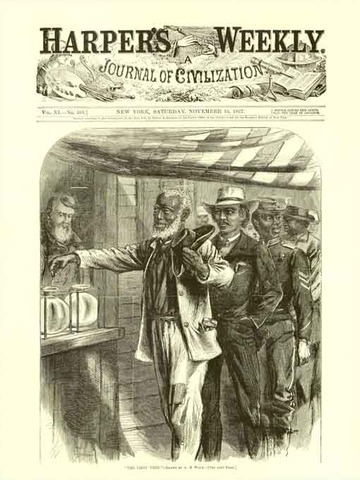 First Black man to vote !