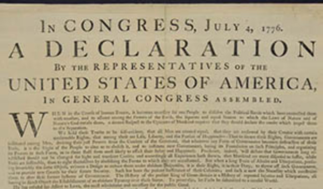 Declaration of the Independence Signed