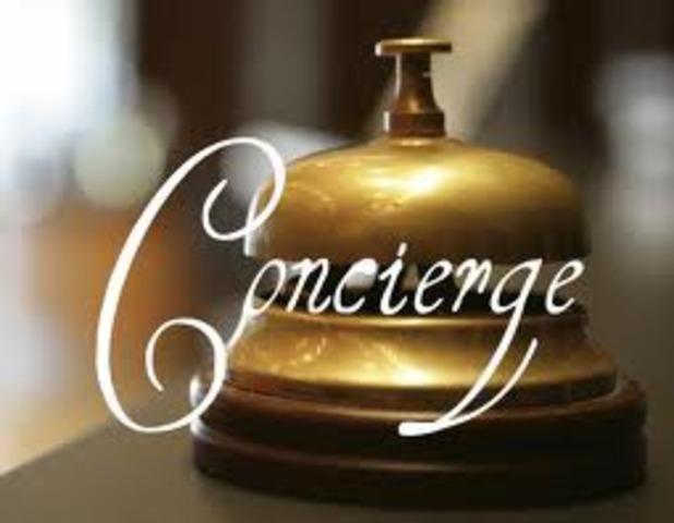 se dio paso a los hoteles de negocios, donde el portero cambia su nombre a Concierge.