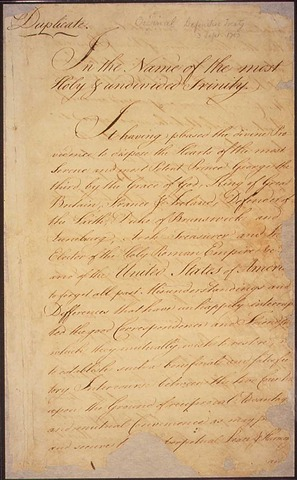 Treaty with Paris stopped the French and Indian war