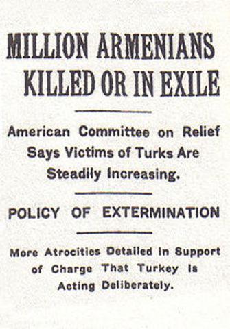 Offical Start Of Armenian Genocide