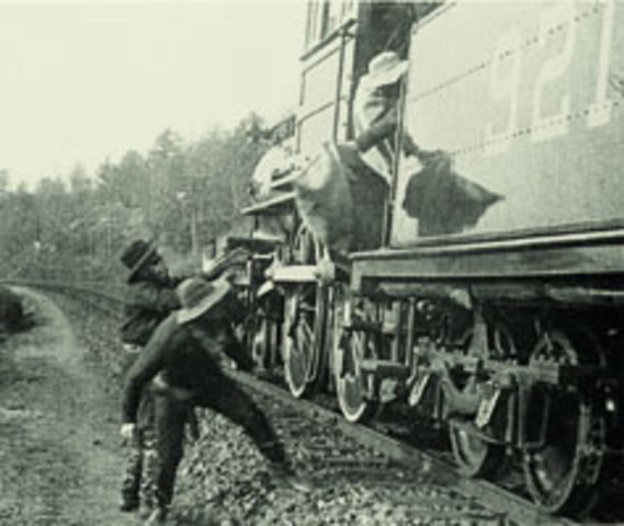 The Great Train Robbery (1903) A Silent Film Review