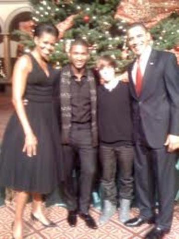 Justin Meets Obama.