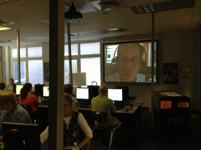 Skype with MS teachers in Alabama