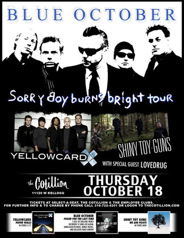 Yellowcard tour with Blue October
