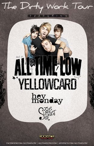 Yellowcard tour with All Time Low, Hey Monday and The Summer Set