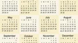 school calender timeline