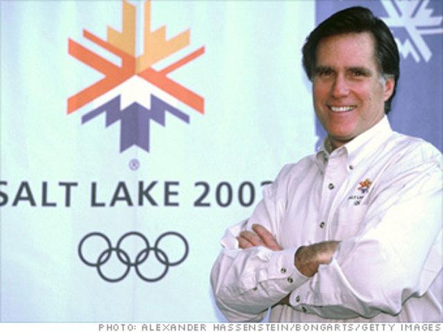 mitt rommney Heads Salt Lake City Olympic Games Organizing Committee