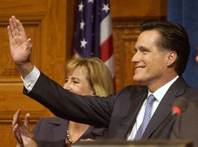 mitt romney becomes governer