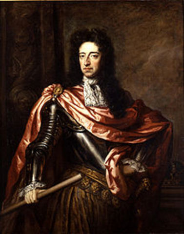 William of orange accepts invitation of English parliamnet to occupy throne