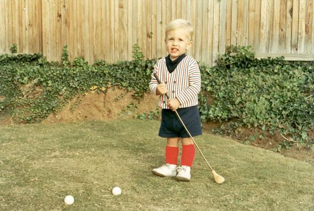 Fuimos mi primera vez jugando al golf