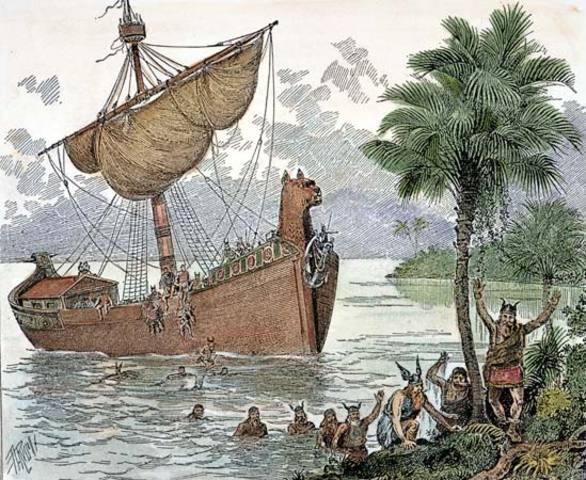 Leif Eriksson Reaches Vinland