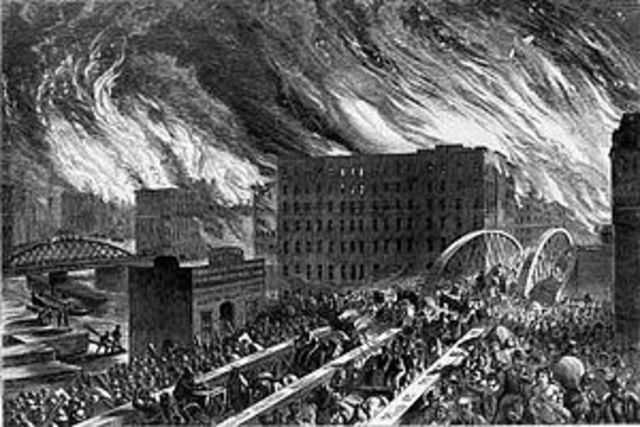 Great Chicago Fire Begins
