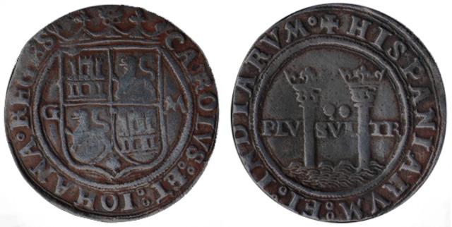Moneda Carlos y Juana