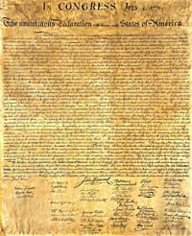 Congress adopts Declaration of Independence