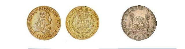 Moneda redonda: Columnarios (1732-1772) y Peluconas (1732-1759)