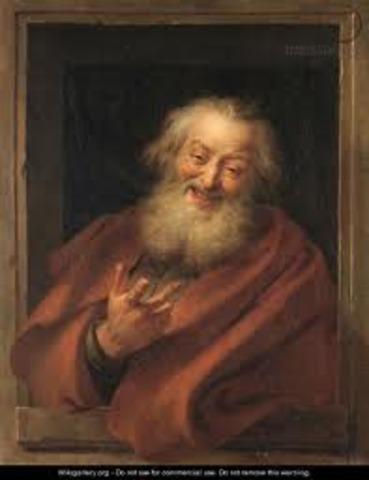 Democritus was born 460 BCE
