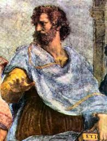 Aristotle is born in 384 BCE and makes discovery