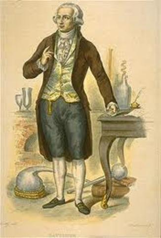 Antoine Lavosier is born in 1743