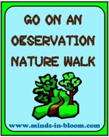 Prepering for nature walk.