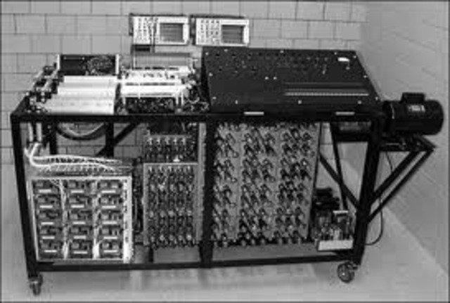 The first electronic computer is created in Japan.