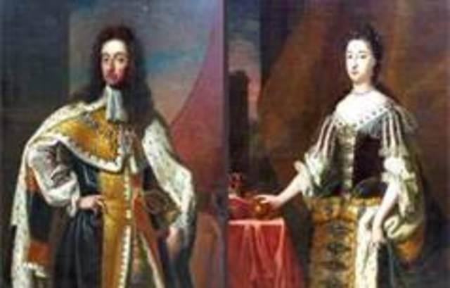 William & Mary Take Throne