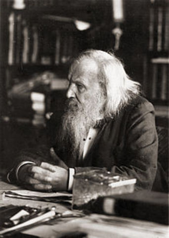 Dmitri Mendeleev- First Periodic Table of the Elements- table