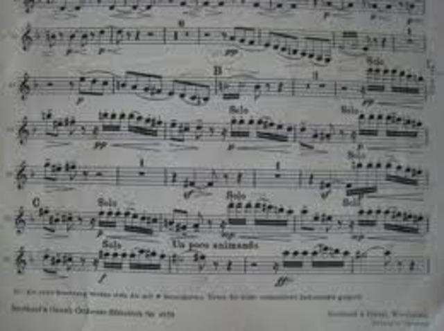 Tchaikovsky Writes his first Piece