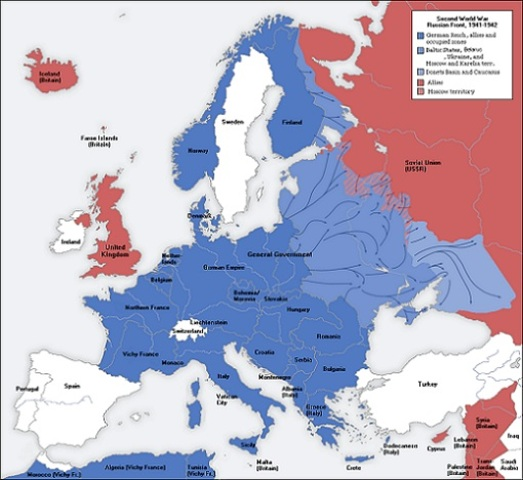 Nazi occupation in 1942