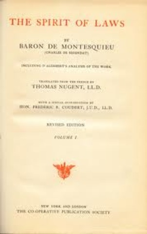 Montesquieu and the Spirit of the Laws
