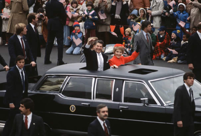 Ronald Reagan is inaugurated as U.S. President