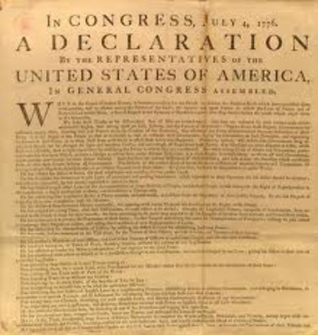 Declaration of Independence 1776-