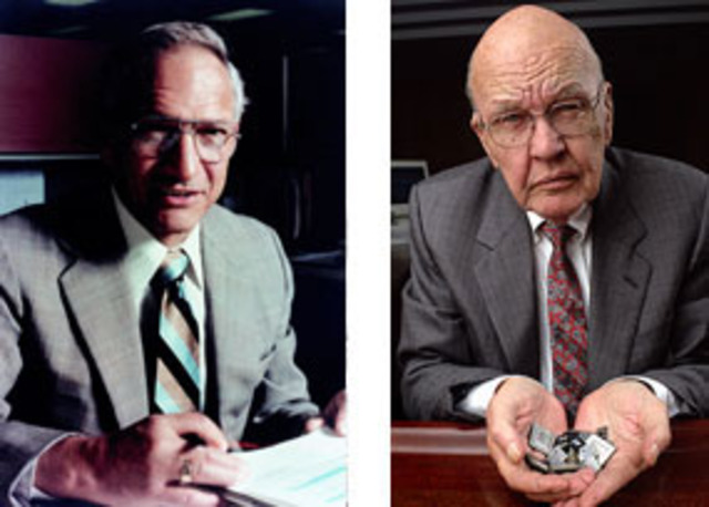 Jack Kilby & Robert Noyce invented the intergrated circuit