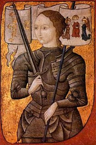 Joan of Arc leads the French Army