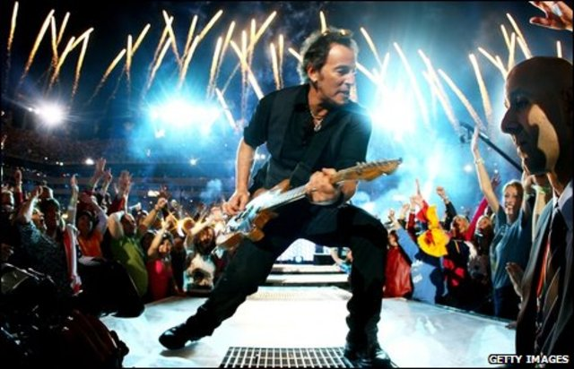 The Boss Performed to a track at the Super Bowl