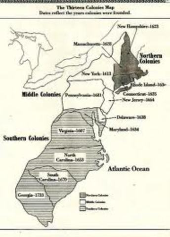 13 colonies founded