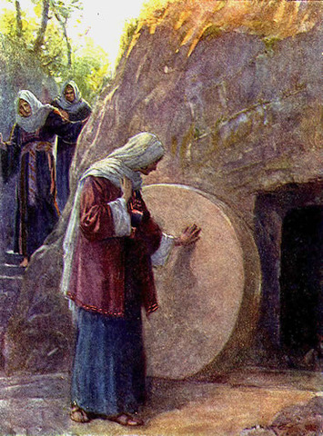 Mary Magdelane Finds the Tomb Empty