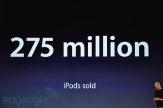 275 miilion iPods sold