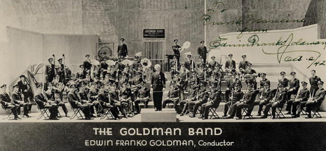 Goldman Band celebrate Golden Jubilee and 2000th Performance with Copland, Gould, Persichetti and Grainger conducting their own compositions