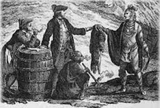 English Whalers Introduce Inuits to European Goods