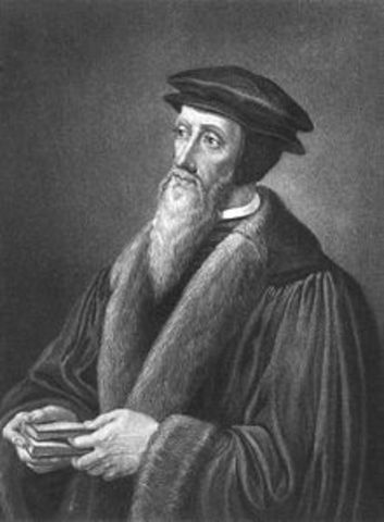 John Calvin dies at age 55